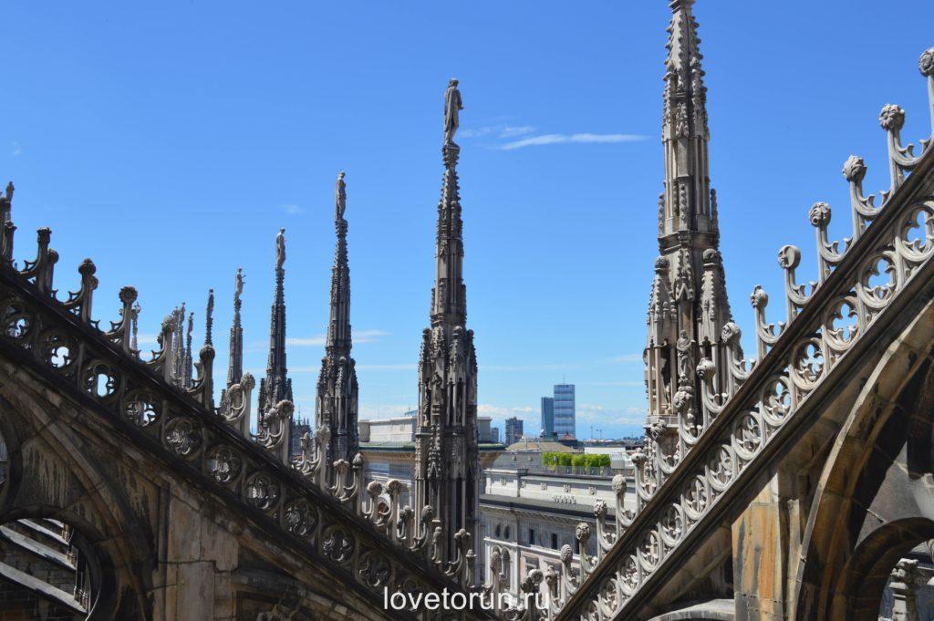 Вид на Милан с крыши собора Дуомо