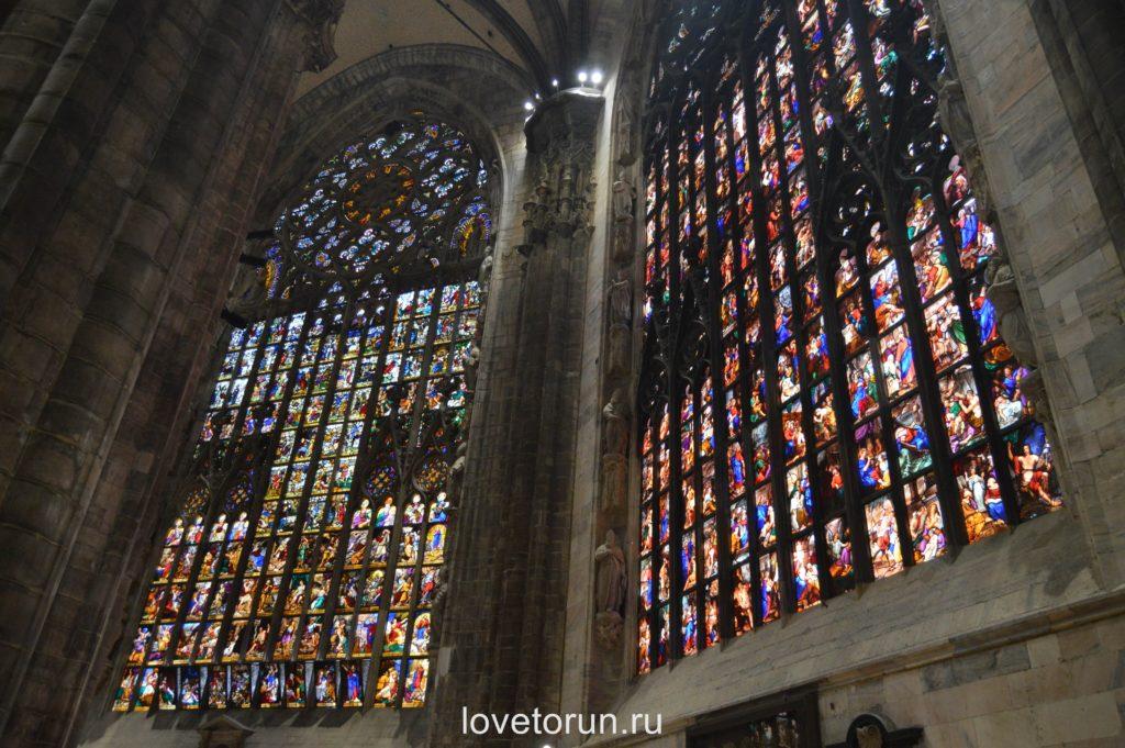 Витражи собора Дуомо. Милан
