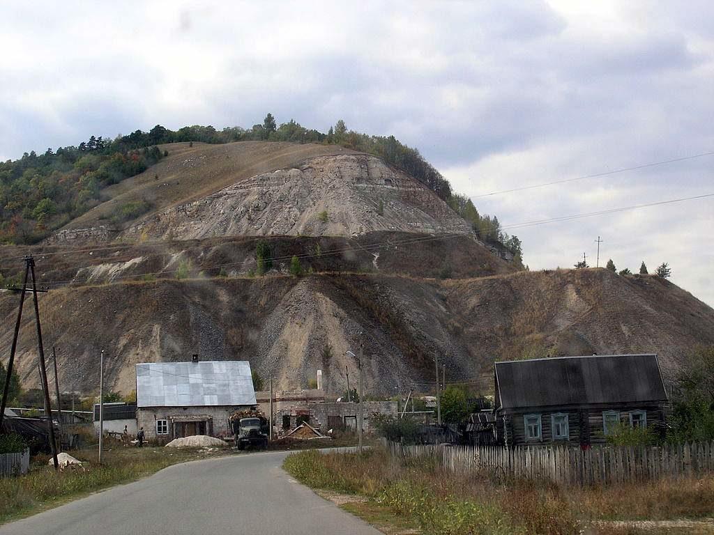 Место финиша - село Ширяево. Вид на Попову гору.